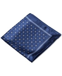 Club Room Medallion Neats Pocket Square Only At Macy's Navy