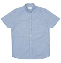 Norse Projects Anton Oxford Short Sleeved Shirt In Navy Huh. Store