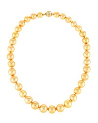 Belpearl Golden South Sea Pearl Necklace