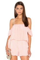 Lucca Couture Pleated Top Coral