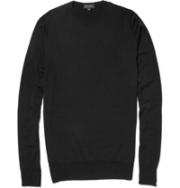 John Smedley Marcus Crew Neck Merino Wool Sweater Black