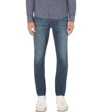 Armani Jeans Mid Wash Slim Fit Tapered Denim Indaco
