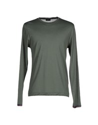 Seventy By Sergio Tegon Topwear T Shirts Men Military Green