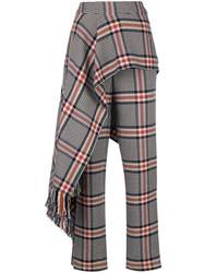 Monse Scarf Detail Plaid Trousers 60