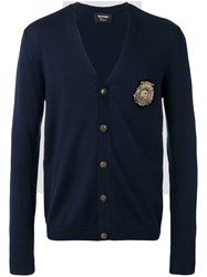 The Kooples Skull Patch Cardigan Blue