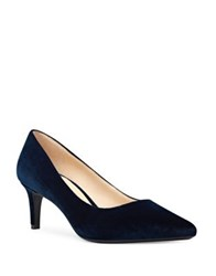 Nine West Soho Pointed Toe Velvet Dress Pumps Navy