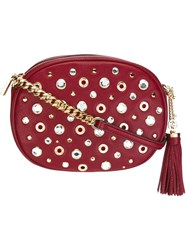 Michael Michael Kors Studded Crossbody Bag Red