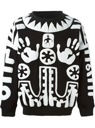 Ktz Tribal Paneling Sweatshirt White