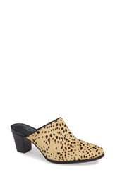 Matisse Commodore Genuine Calf Hair Mule Leopard Cow Hair