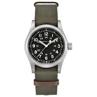Hamilton H69429931 'S Khaki Field Automatic Date Nato Fabric Strap Watch Green Black