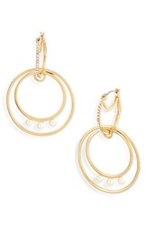 Vince Camuto Double Hoop Earrings Gold