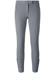 Joseph Buttoned Cropped Trousers Grey