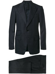 Tom Ford Two Piece Suit Silk Cupro Wool Blue