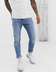 G Star Elto 3301 Slim Fit Superstretch Light Wash Jeans Blue