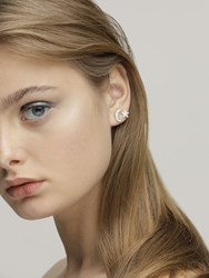 Federica Tosi Moon And Star Stud Earrings Silver