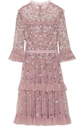 Needle And Thread Twilight Tiered Embellished Tulle Dress Lilac