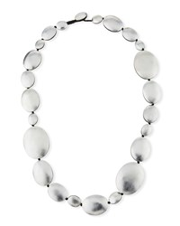 Viktoria Hayman Single Strand Foil Necklace Silvertone