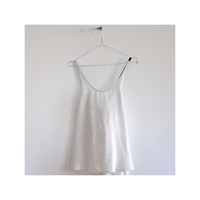 Crossed Blouse White Fabric