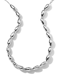 Ippolita Hammered Silver Chain Necklace 18'L