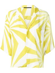 Haider Ackermann Loose Fit Printed Blouse White