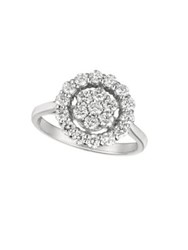 Morris And David Diamond 14K White Gold Ring