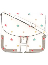 Red Valentino Star Studded Crossbody Bag Women Calf Leather One Size White