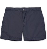 Officine Generale Roman Slim Fit Mid Length Swim Shorts Navy