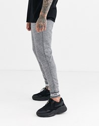 Abercrombie And Fitch Americana Logo Rib Jogger In Grey