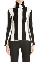 Monse Women's Stripe Turtleneck Black White