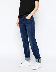 Weekday Issue Mid Rise Straight Leg Jeans Mtw Blue Black