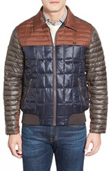 Men's Rainforest 'Jackson' Quilted Bomber Jacket Midnight