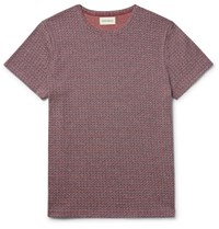 Oliver Spencer Conduit Lim Fit Knitted Cotton T Hirt Red
