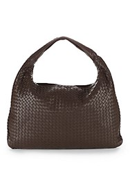 Bottega Veneta Platre Hobo Handbag Brown