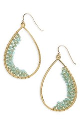 Panacea Women's Beaded Teardrop Earrings Green
