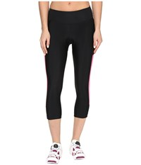Pearl Izumi Escape Sugar Cycling 3 4 Tights Black Screaming Pink Women's Clothing