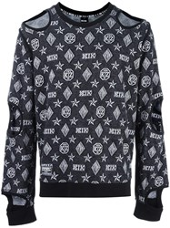 Ktz Inside Out Cut Off Sweatshirt Black