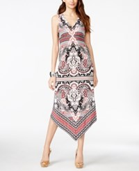 Inc International Concepts Petite Printed Asymmetrical Hem Maxi Dress Only At Macy's