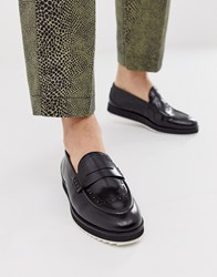 House Of Hounds Bowie Loafers In Black Hi Shine Leather