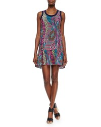 Tolani Jolie Printed Tank Dress Pink