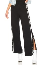 By The Way Bonnie Side Snap Track Pant Black