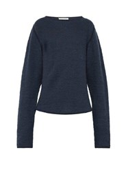 Denis Colomb Crew Neck Cashmere Sweater Blue