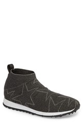 Jimmy Choo Norway Mid Knit Sock Sneaker Black Dust Grey