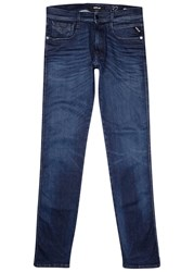 Replay Anbass Hyperflex Indigo Slim Leg Jeans Dark Blue