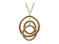 The Sak Ribbed Orbit Pendant Necklace 28 Gold Necklace