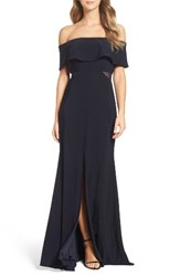 Xscape Evenings Women's Jersey Popover Gown Navy