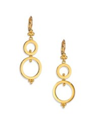 Temple St. Clair Celestial 18K Yellow Gold Double Ring Spin Drop Earrings