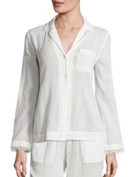 Skin Woven Cotton Gauze Sleep Shirt Coconut Deep Sea