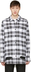 Off White Check Diagonal Spray Shirt