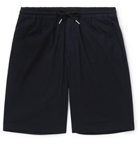 Sandro Tech Cotton Drawstring Shorts Navy