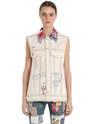Tommy Hilfiger Collection Patchwork Cotton Denim Vest
